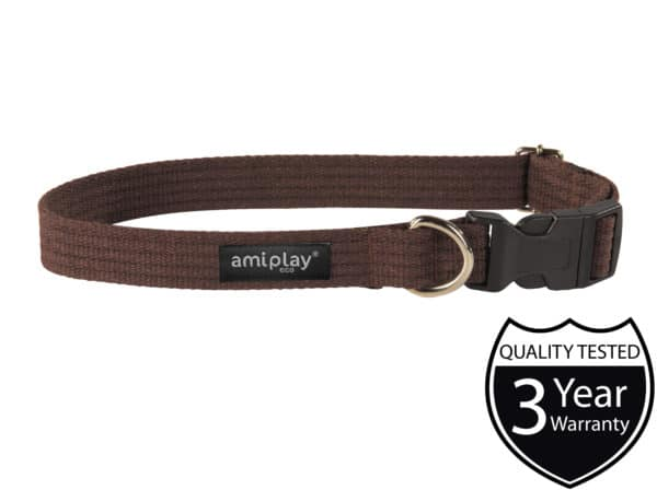 Product 1 AmiPlay Cotton Collar Brown W