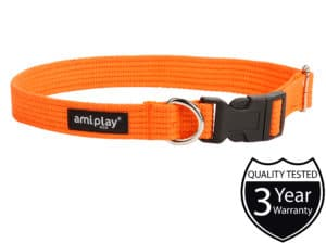 AmiPlay_Cotton_Collar_Orange.jpg 3 AmiPlay Cotton Collar Orange