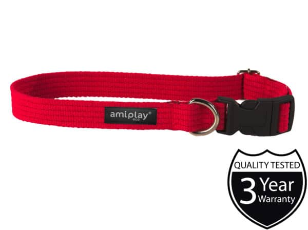 Product 1 AmiPlay Cotton Collar Red W