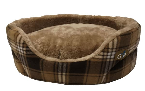 Essence Standard Bed Large Finished In Brown Check 1 GorPets Essence Bed 11 Brown