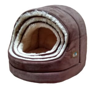 Home 18 GorPets Hooded Bed Brown Set