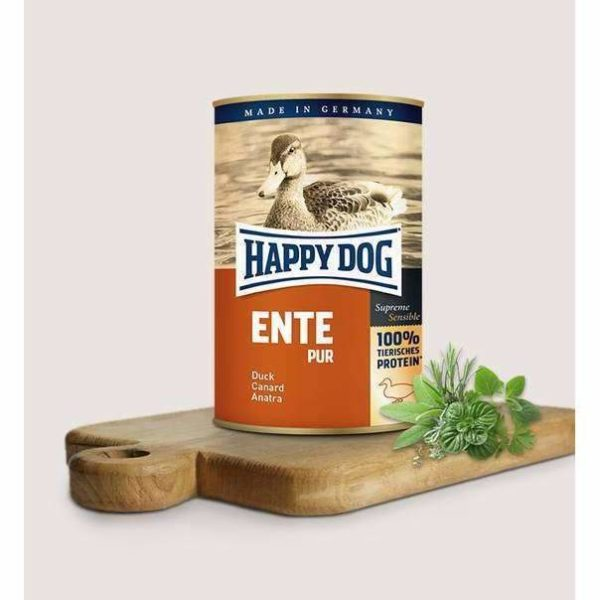 Happy Dog Pure Duck - 8x400g 1 Happy dog duck pure 2193e8a8 fb3b 4ca2 b2e5 dc6b225e52fe spo