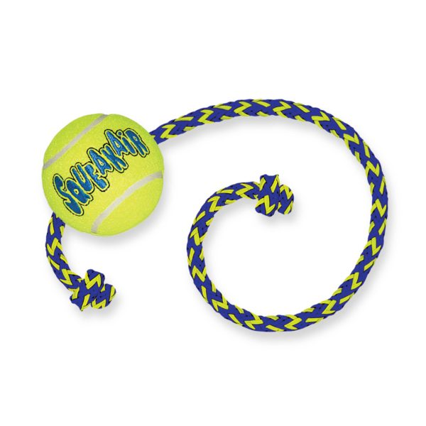 Product 1 KONG AST21 AirSqueaker Tennis Ball Rope 1