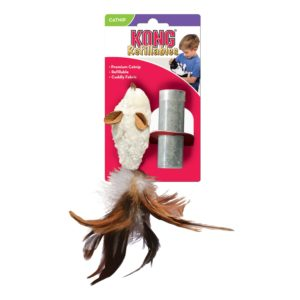 KONG_NM42_CatRefillable_Feather_Mouse.jpg 3 KONG NM42 CatRefillable Feather Mouse
