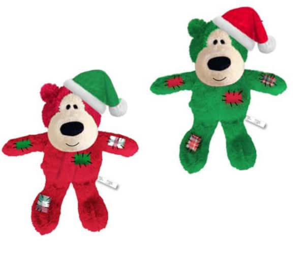Kong Holiday Wild Knots Bear Assorted Small/Medium 1 Kong H19D119E Wild Knots Bear