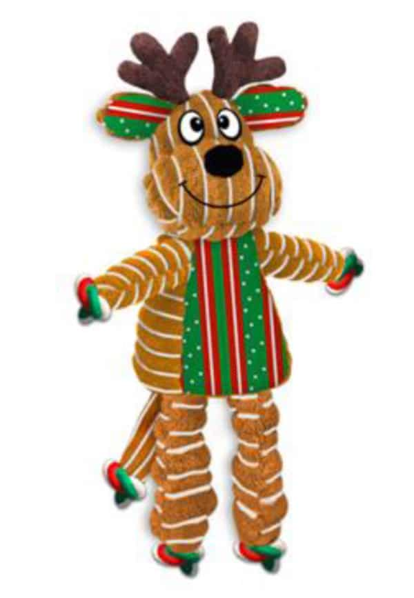 Kong Holiday Floppy Knots Reindeer Large 1 Kong H19D123E Floppy Knots Reindeer