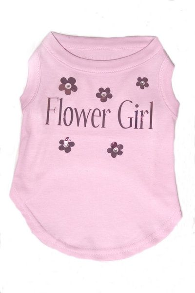 Flower Girl Dog T-shirt - Pretty In Pink 1 flowergirltshirt5Bfullscreen5D